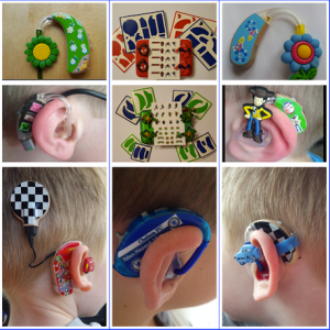Lugs hearing aid stickers