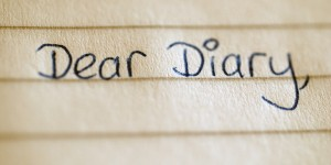 The beginning of a child's diary entry