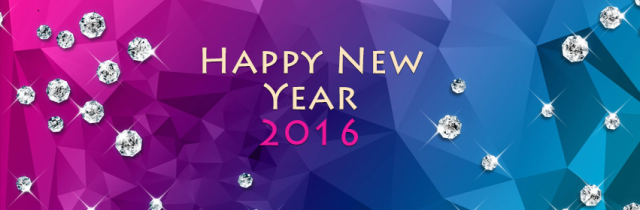 Happy new year 2016 facebook banner photo